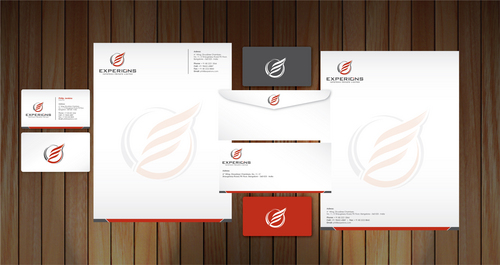 Business card and stationary for Experions