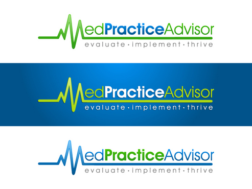 "Logo for MedPracticeAdvisor and symbol (triangle?) & terms ""quality, satisfaction, profitability"""