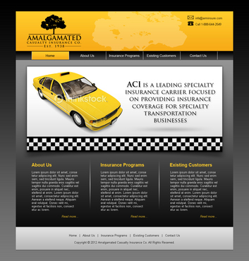 Insurance website Complete Web Design Solution  Draft # 5 by shufanok