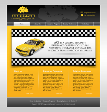 Insurance website Complete Web Design Solution  Draft # 6 by shufanok