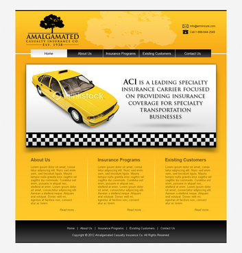 Insurance website Complete Web Design Solution  Draft # 7 by shufanok