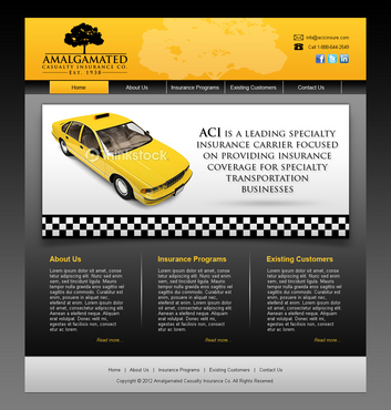 Insurance website Complete Web Design Solution  Draft # 8 by shufanok