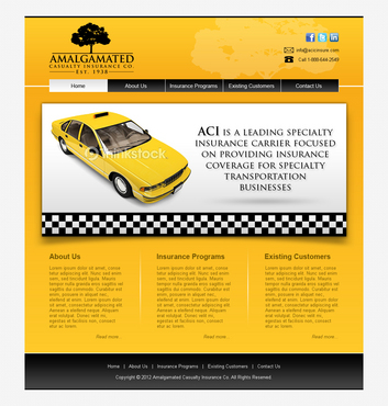 Insurance website Complete Web Design Solution  Draft # 10 by shufanok