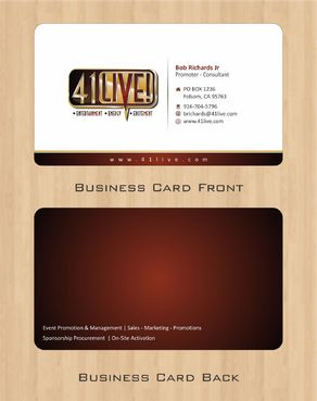41Live! Business Cards and Stationery  Draft # 68 by Deck86
