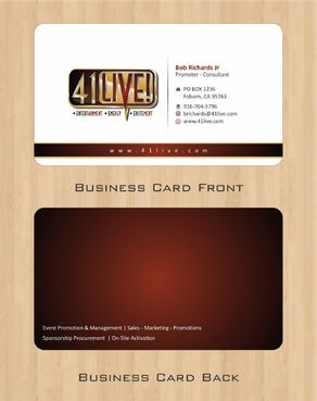 41Live! Business Cards and Stationery  Draft # 70 by Deck86