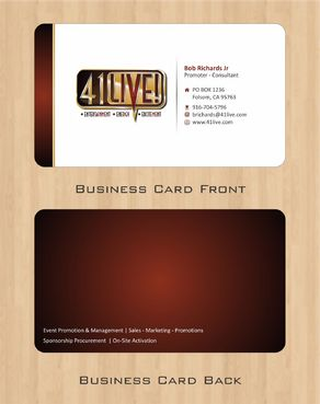 41Live! Business Cards and Stationery  Draft # 71 by Deck86