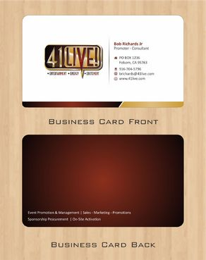 41Live! Business Cards and Stationery  Draft # 72 by Deck86