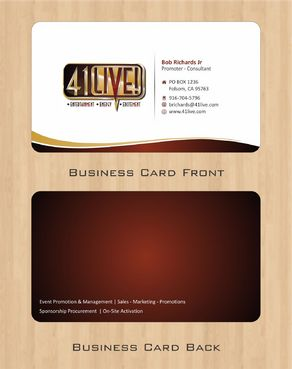 41Live! Business Cards and Stationery  Draft # 73 by Deck86