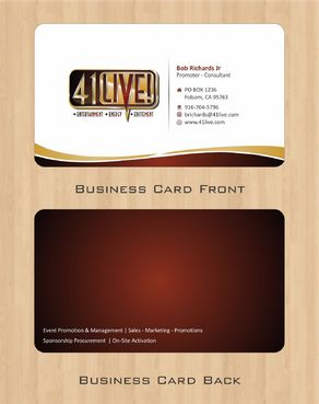 41Live! Business Cards and Stationery  Draft # 74 by Deck86
