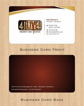 41Live! Business Cards and Stationery  Draft # 75 by Deck86