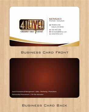 41Live! Business Cards and Stationery  Draft # 76 by Deck86