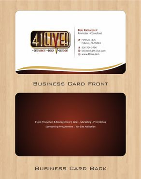 41Live! Business Cards and Stationery  Draft # 77 by Deck86