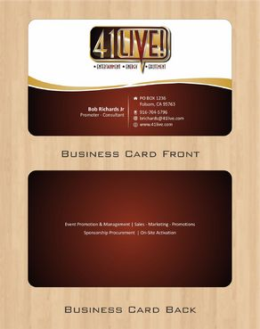 41Live! Business Cards and Stationery  Draft # 79 by Deck86