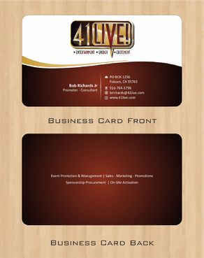 41Live! Business Cards and Stationery  Draft # 78 by Deck86