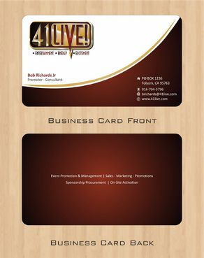 41Live! Business Cards and Stationery  Draft # 80 by Deck86
