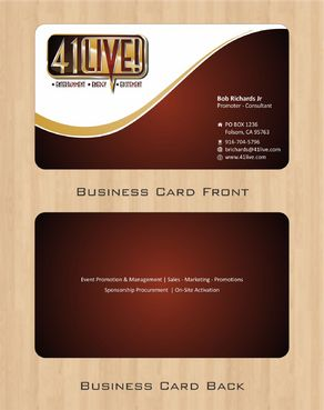 41Live! Business Cards and Stationery  Draft # 81 by Deck86