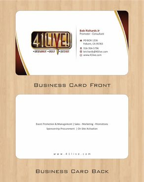 41Live! Business Cards and Stationery  Draft # 82 by Deck86
