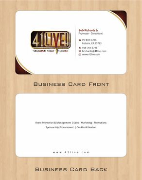 41Live! Business Cards and Stationery  Draft # 83 by Deck86