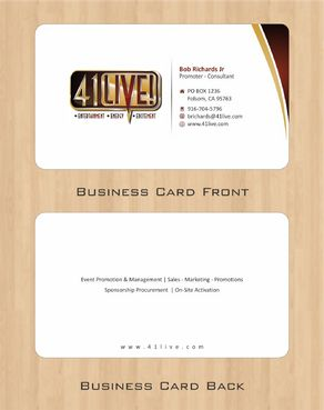 41Live! Business Cards and Stationery  Draft # 84 by Deck86