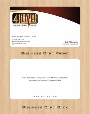 41Live! Business Cards and Stationery  Draft # 85 by Deck86