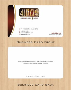 41Live! Business Cards and Stationery  Draft # 86 by Deck86