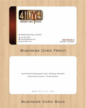 41Live! Business Cards and Stationery  Draft # 87 by Deck86