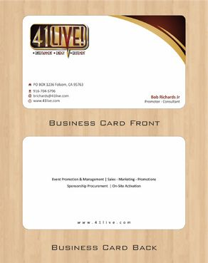 41Live! Business Cards and Stationery  Draft # 89 by Deck86