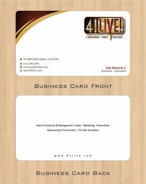 41Live! Business Cards and Stationery  Draft # 88 by Deck86