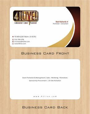 41Live! Business Cards and Stationery  Draft # 91 by Deck86