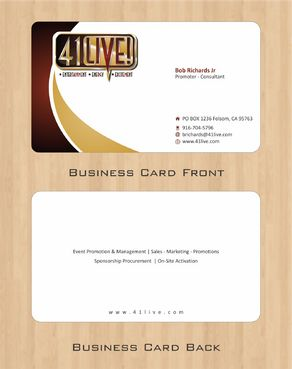 41Live! Business Cards and Stationery  Draft # 90 by Deck86