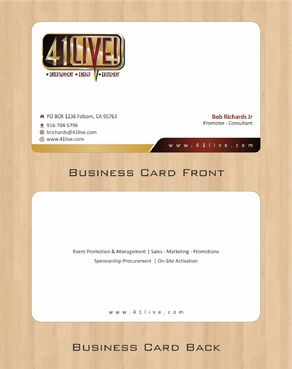41Live! Business Cards and Stationery  Draft # 92 by Deck86