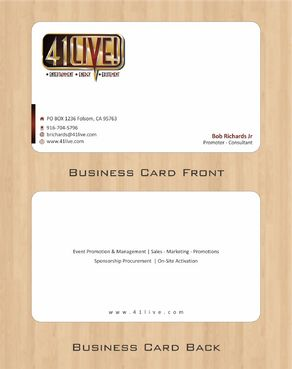 41Live! Business Cards and Stationery  Draft # 94 by Deck86