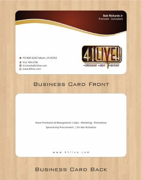 41Live! Business Cards and Stationery  Draft # 93 by Deck86