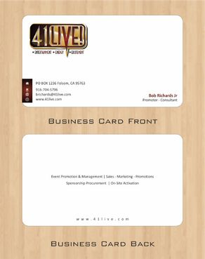 41Live! Business Cards and Stationery  Draft # 95 by Deck86