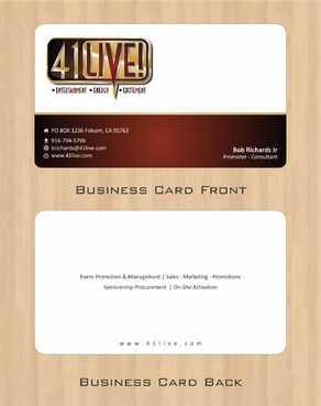 41Live! Business Cards and Stationery  Draft # 96 by Deck86