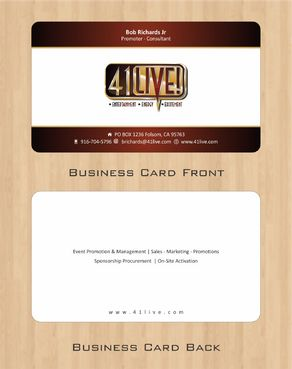 41Live! Business Cards and Stationery  Draft # 97 by Deck86