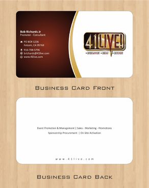 41Live! Business Cards and Stationery  Draft # 98 by Deck86