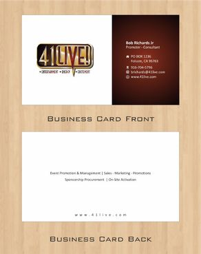 41Live! Business Cards and Stationery  Draft # 99 by Deck86