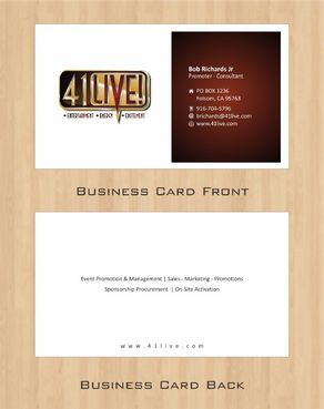 41Live! Business Cards and Stationery  Draft # 100 by Deck86