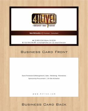 41Live! Business Cards and Stationery  Draft # 101 by Deck86
