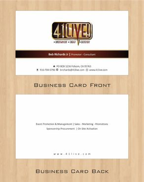 41Live! Business Cards and Stationery  Draft # 102 by Deck86