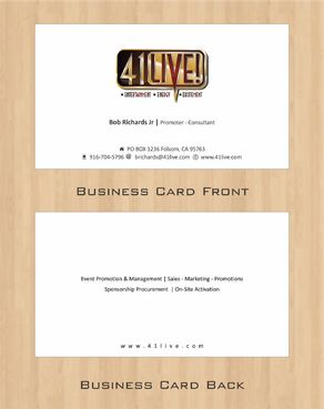 41Live! Business Cards and Stationery  Draft # 103 by Deck86