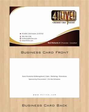 41Live! Business Cards and Stationery  Draft # 104 by Deck86
