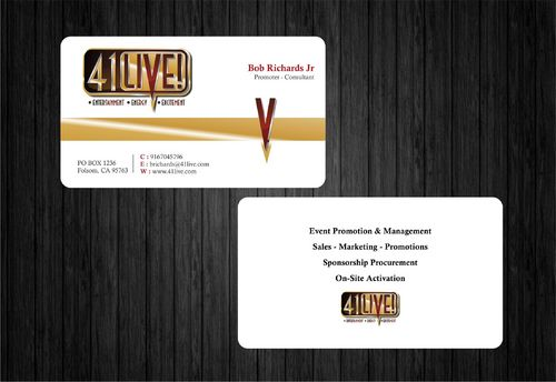 41Live! Business Cards and Stationery  Draft # 164 by Xpert