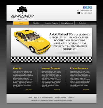 Insurance website Complete Web Design Solution  Draft # 13 by shufanok
