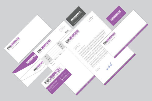 Biz Cards, Stationery, Fax Cover sheet, Folder, and Envelope