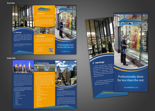 Tri Fold 8.5 x 11 Brochures Marketing collateral  Draft # 3 by unresolve