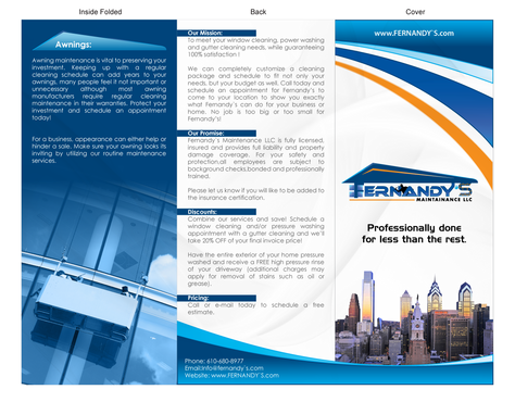 Tri Fold 8.5 x 11 Brochures Marketing collateral  Draft # 5 by XtremeCreative2