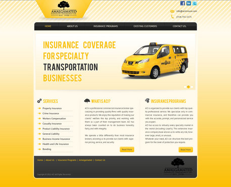 Insurance website Complete Web Design Solution  Draft # 55 by AjayDesigner
