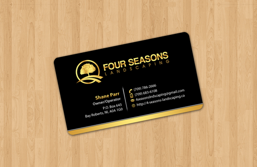Four Seasons Landscaping Business Cards and Stationery  Draft # 1 by einsanimation